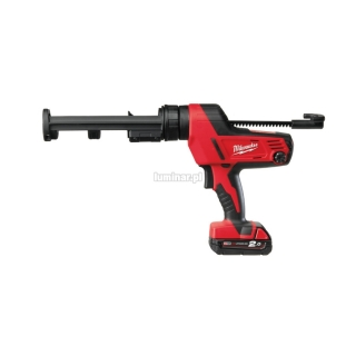 MILWAUKEE Heavy Duty pistolet do klejenia z pojemnikiem 310 ml C18 PCG/310 18V (1 akumulator Li-Ion 2,0 Ah)