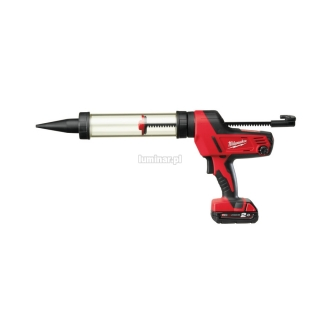 MILWAUKEE Heavy Duty pistolet do klejenia z przezroczyst± tub± 400 ml C18 PCG/400 18V (1 akumulator Li-Ion 2,0 Ah)