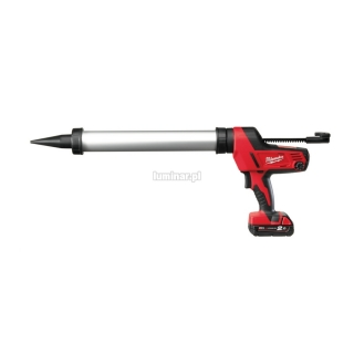 MILWAUKEE Heavy Duty pistolet do klejenia z aluminiow± tub± 600 ml C18 PCG/600 18V (1 akumulator Li-Ion 2,0 Ah)